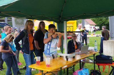 Jugendtag Wiesweiher Pegnitz - Stand des SV Horlach mit Lichtgewehr
